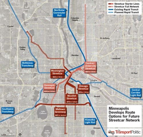 minneapolis streetcar plan map