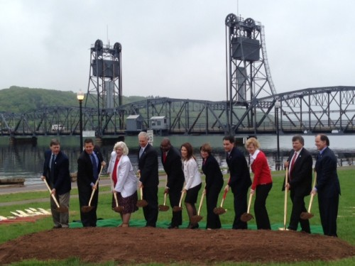 stillwater bridge groundbreaking