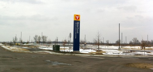 On december 14 Metro Transit will open this new 290-space park-ride lot at I-35E and County Road 14 in Centerville.