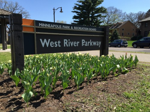 West River Parkway sign