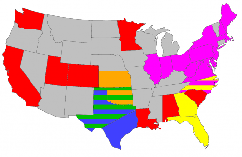 US Toll Systems inter-operability map.