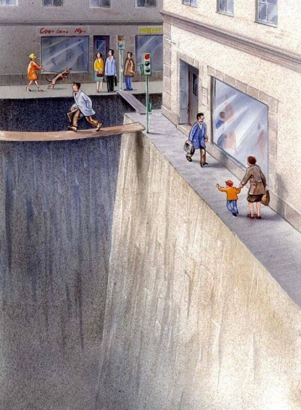 chasm of space for cars