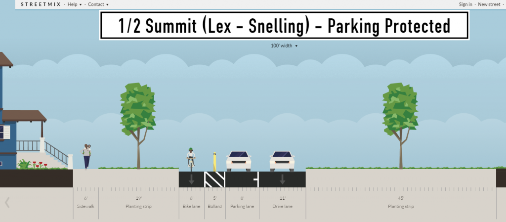 ideal half summit lex-snell parking protected