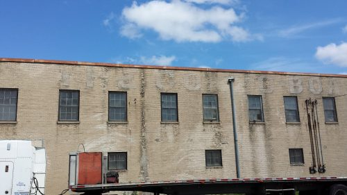 Former Comp-Board Building (4430 Lyndale Ave N, 1892+) with Part of the Ghost Sign