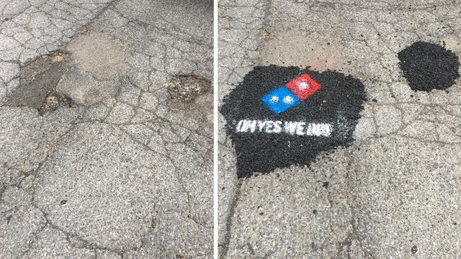 Dominoes Pothole