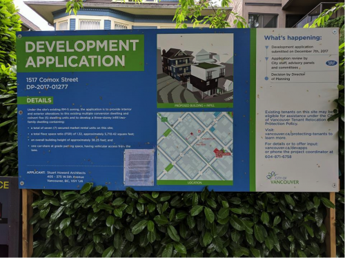 Development Action Sign