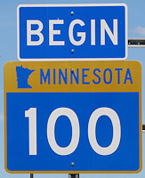 Highway 100 Sign