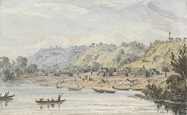 Kaposia in 1848. Painting by Seth Eastman. Collections of the Minnesota Historical Society