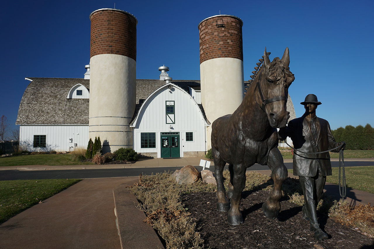 The entrance to the Spirit of Brandtjen Farms clubhouse as viewed looking north.
